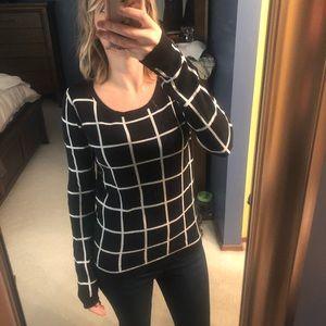 Old navy black windowpane sweater